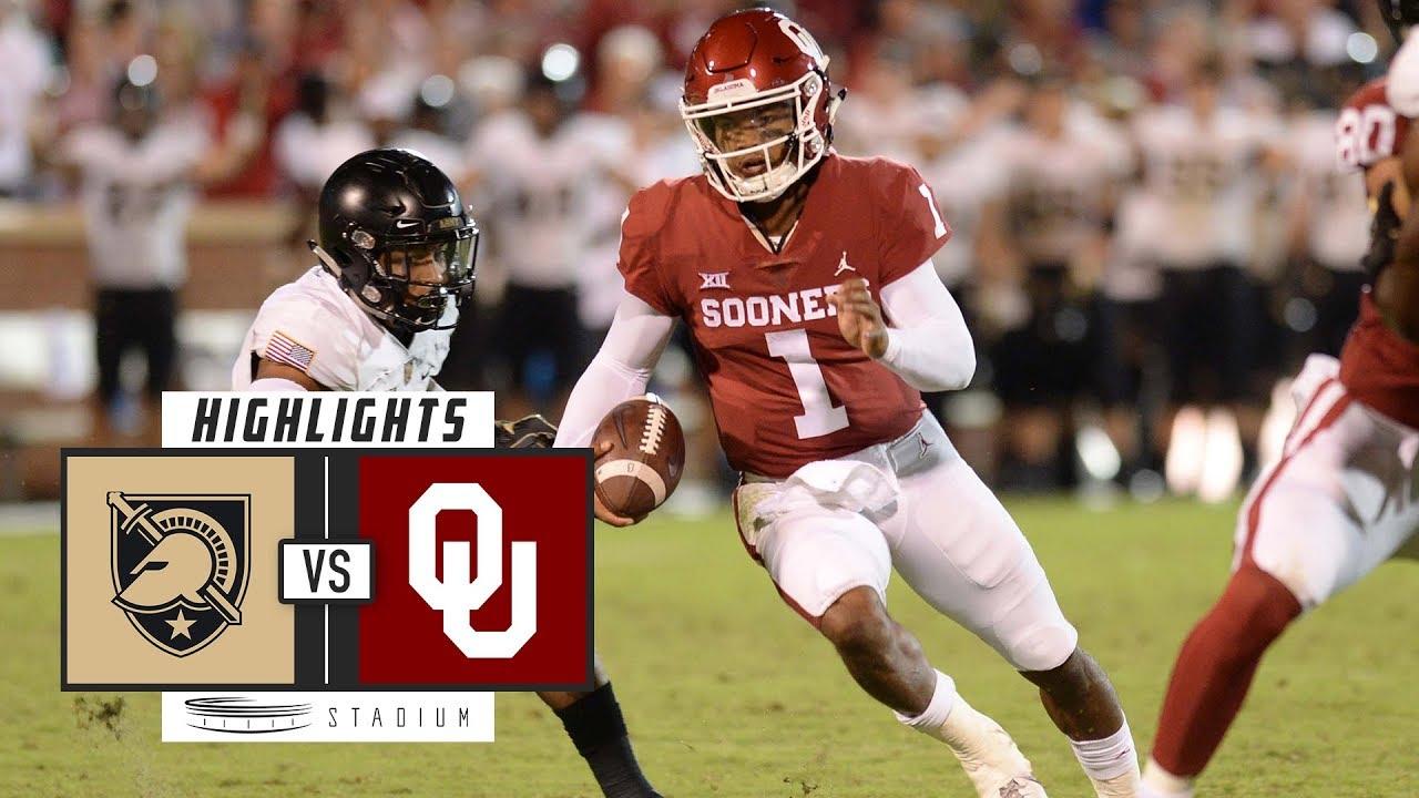 Army vs No. 5 Oklahoma Football Highlights (2018 ...