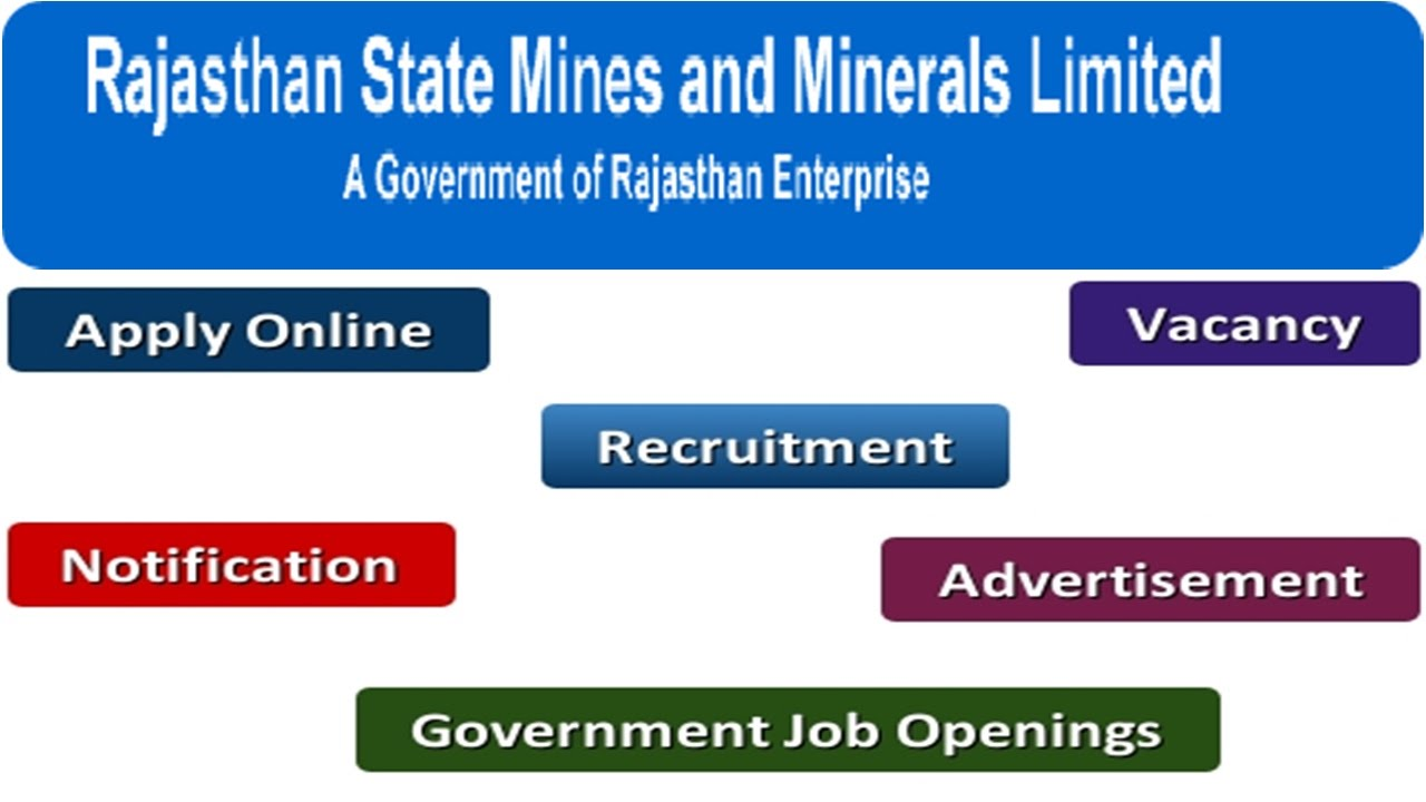 Rajasthan State Mines and Minerals Limited Recruitment Apply Online  Notifications Careers Vacancy