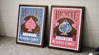 Bicycle Playing Card DIY Wall Art