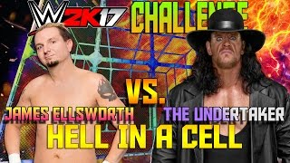 Can James Ellsworth (No Stats) Beat Undertaker In Hell in a Cell at Wrestlemania? WWE 2K17 Challenge