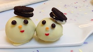 Diy Winter Holiday Snowman Oreo Truffles | Bizarre Island