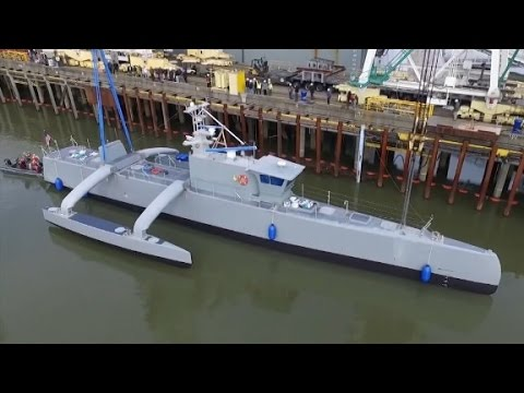 Navy tests sub-hunting drone ship