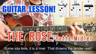 Guitar Lesson for beginners![The Rose/Bette Midler]-Chords/tutorial/TAB/Lyric