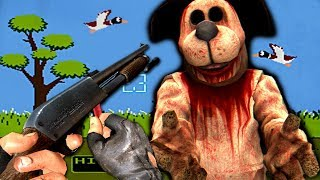duck hunt but it's a horror game
