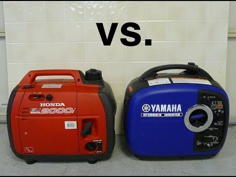 honda eu2000i vs yamaha ef2000is sound  parison   youtube