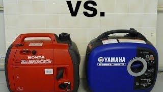 Honda EU2000i vs. Yamaha EF2000is Sound comparison