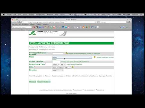 Pay Tolls Online Nyc >> How To Pay Illinois Toll Online Youtube