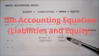 Basic Accounting - The Accounting Equation (Liabilities and Equity)