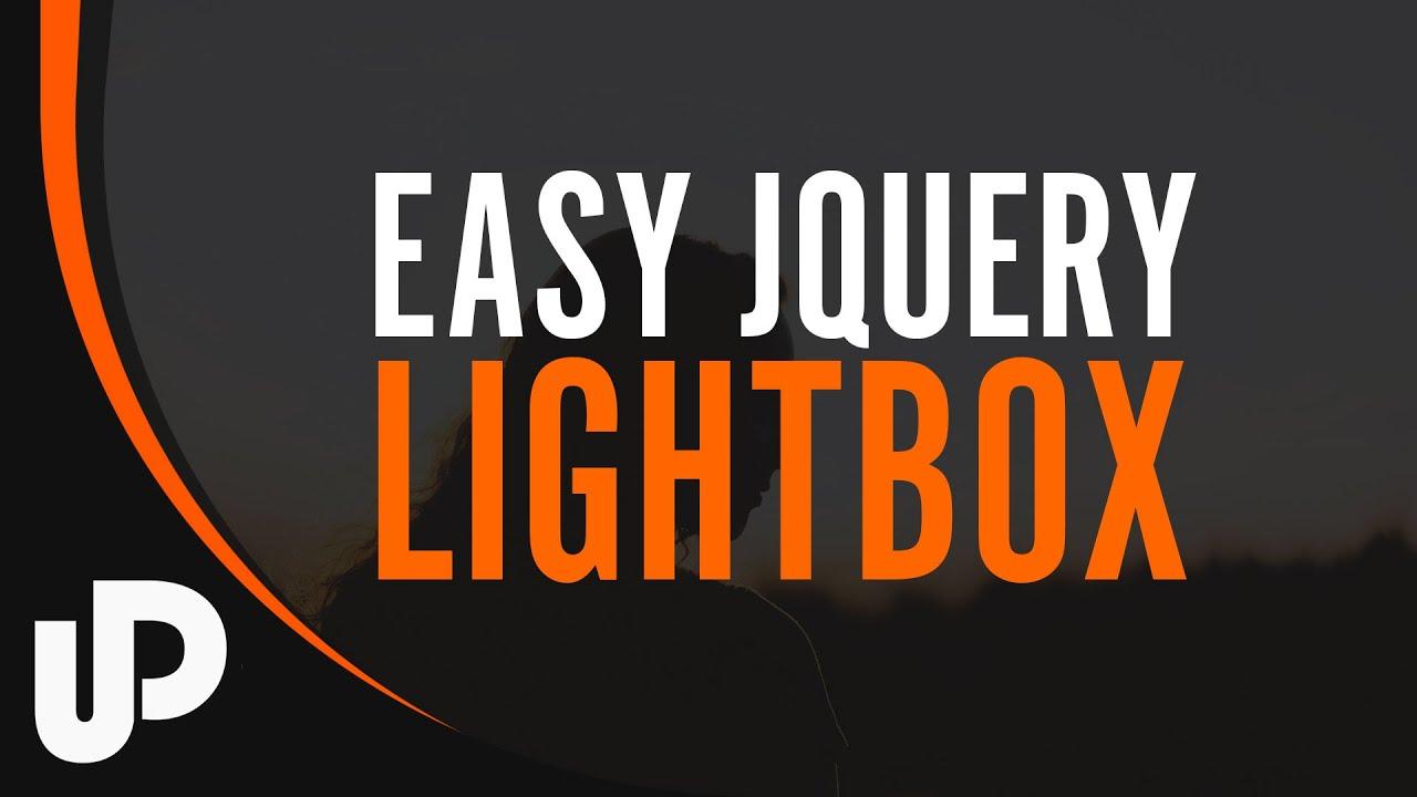 Easy jQuery Lightbox | Tutorial