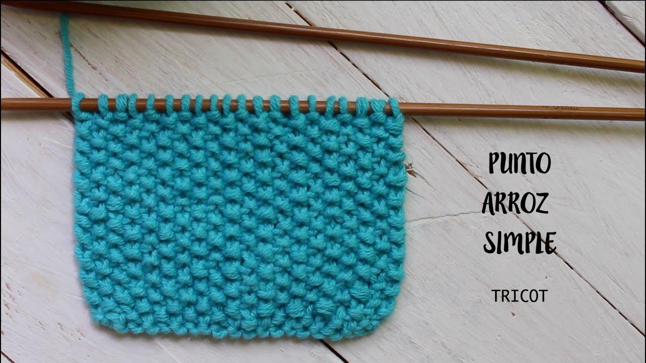 Aprende a tejer punto arroz paso a paso i tricot i for Construccion de piletas paso a paso