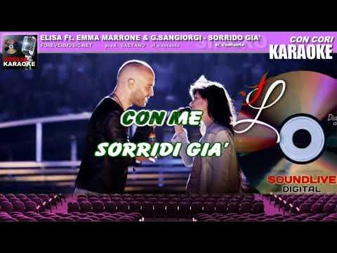 sorrido già - Elisa Ft. Emma Marrone Ft. Giuliano Sangiorgi - karaoke (SL)