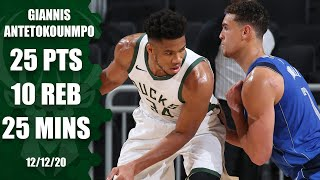 Watch highlights of back-to-back nba mvp giannis antetokounmpo as he records 25 points and 10 rebounds in minutes the milwaukee bucks' preseason debut ...