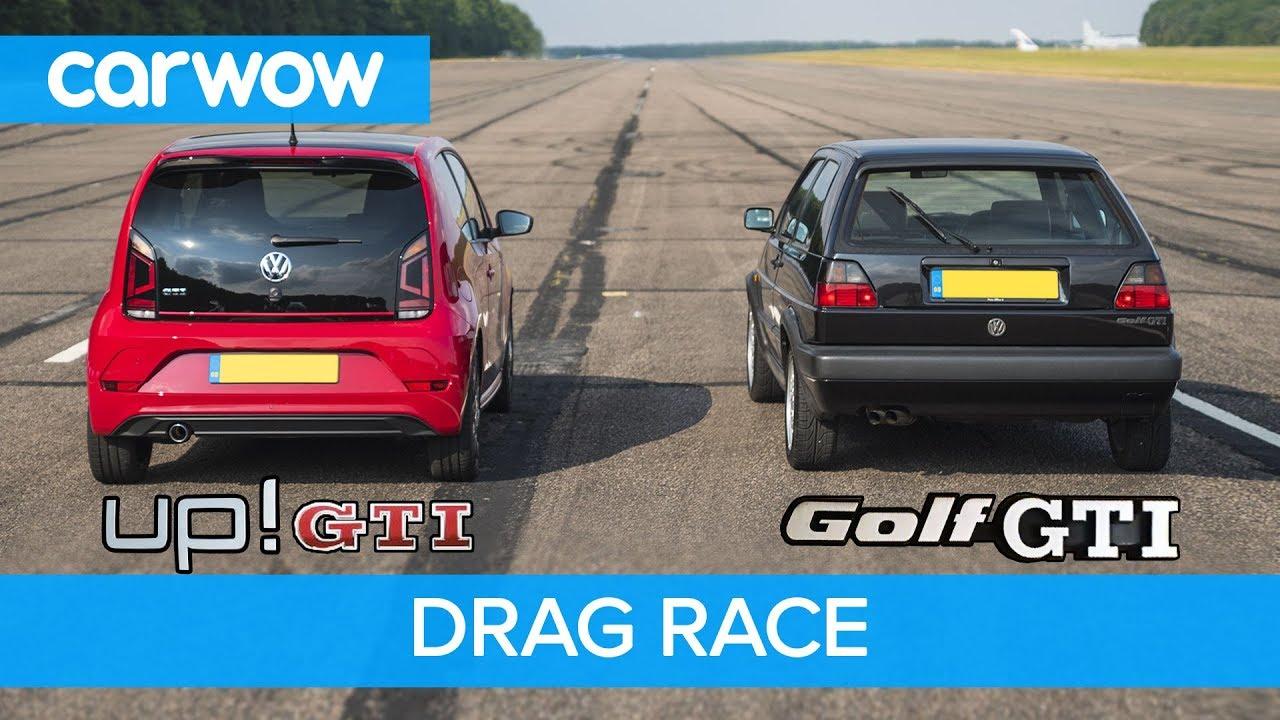 VW Golf GTI MK2 vs up! GTI - DRAG & ROLLING RACE | carwow