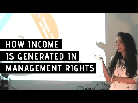 How Income is generated in Management Rights (Management Letting Rights)