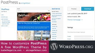 Learn how to customize PostPress - free WordPress Theme