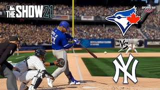 MLB The Show 21 - Toronto Blue Jays vs. New York Yankees (Xbox Series X, 4K 60 FPS)