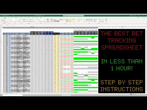 How To Make THE BEST Bet Tracking Spreadsheet There Is in Excel! Step-By-Step Instructions