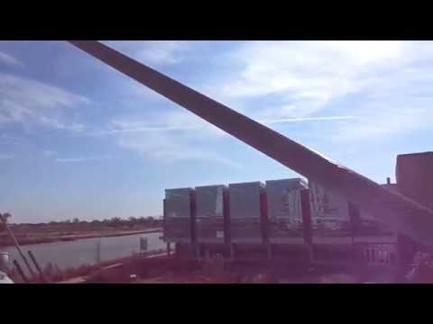 Pedestrian Bridge Cable-Stays Vibrates