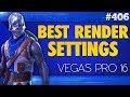 Vegas Pro 16: Best Render Settings For Gaming Videos - Tutorial #406