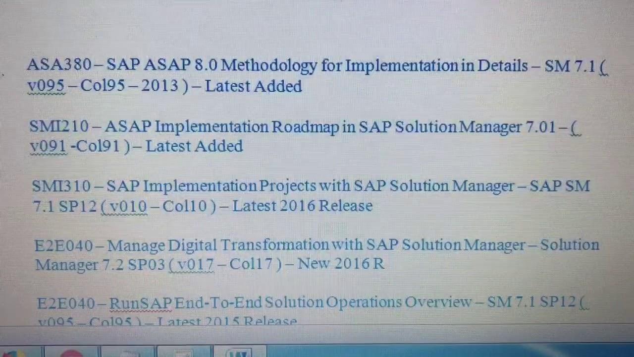Sap solman certification materials download youtube sap solman certification materials download xflitez Image collections