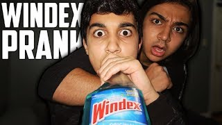 DRINKING GATORADE IN A WINDEX BOTTLE PRANK ON MY BROTHER! *PRANK WARS*