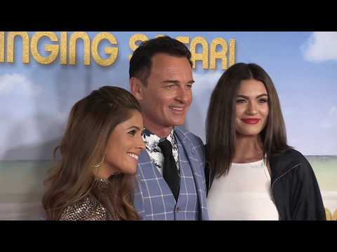 'Playboy Julian McMahon s off his new girls in crazy blue ensemble @Swinging Safari' 141217