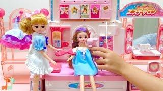 リカちゃん ハートヒルズのエステサロン / Licca-chan Doll Beauty Salon Playset thumbnail