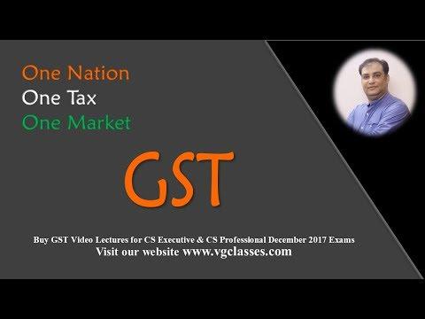 GST - Must for CS Exams December 2017 by CA Vivek Goel (VG Classes ...