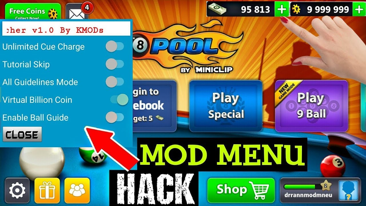 8 ball pool latest hack !! With official kmods mod menu apk 100% working -