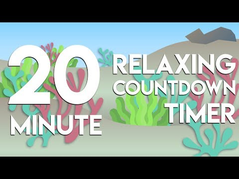 20 Min Relaxing Underwater Countdown Timer With Water Sounds For Study, Classroom, Meditation