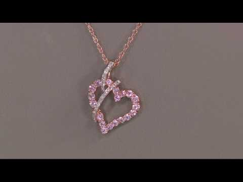 Baby Pink Spinel \u0026 Diamond Heart Enhancer on 18\
