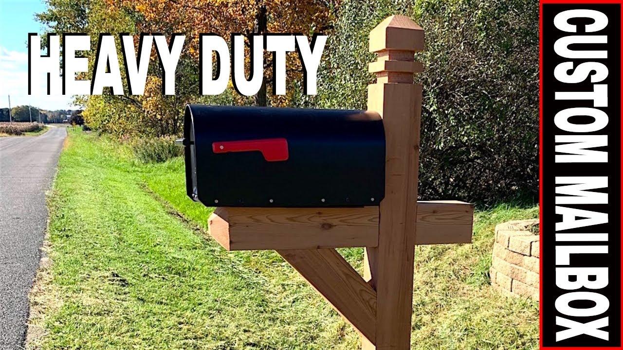 How To Build A Custom Heavy Duty Mailbox Adding Fence Armor Post Protector Youtube