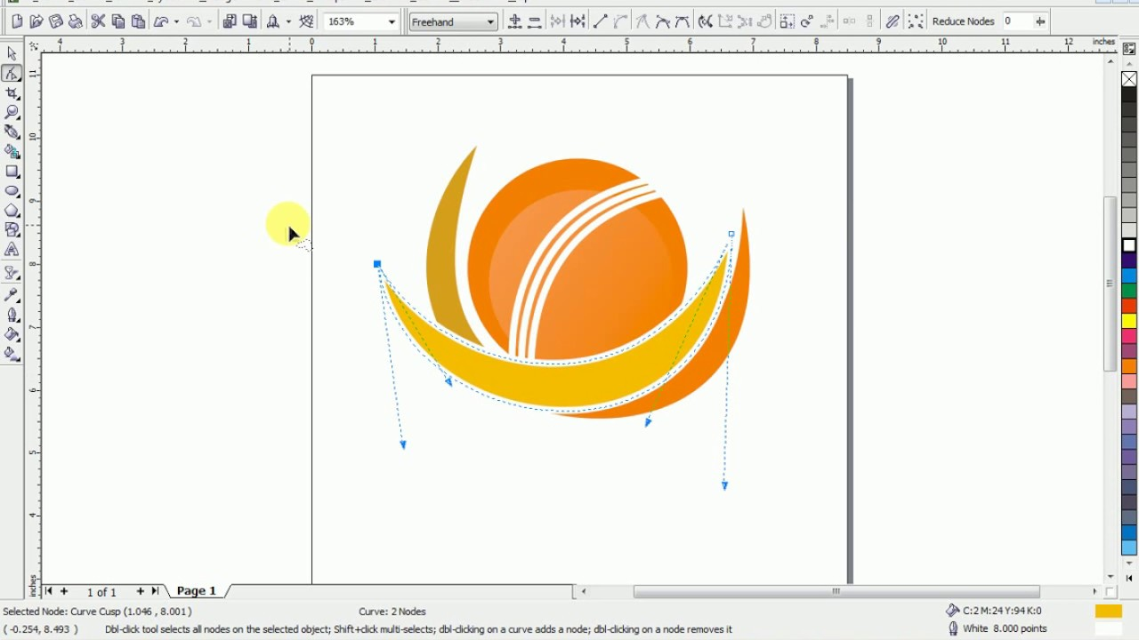 How To Design A Logo Champions Trophy 2017 Corel Draw In Hindi