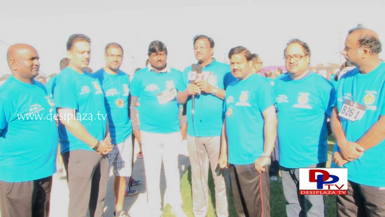 Rajyasabha MP Garikapati RamMohanRao speaking at TANA Mana Oori Kosam 5K Walk & Run