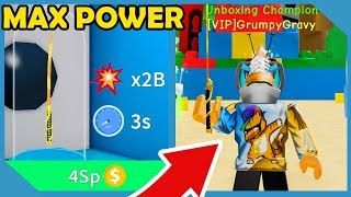 Buying The Max Power Sword In Roblox Unboxing Simulator