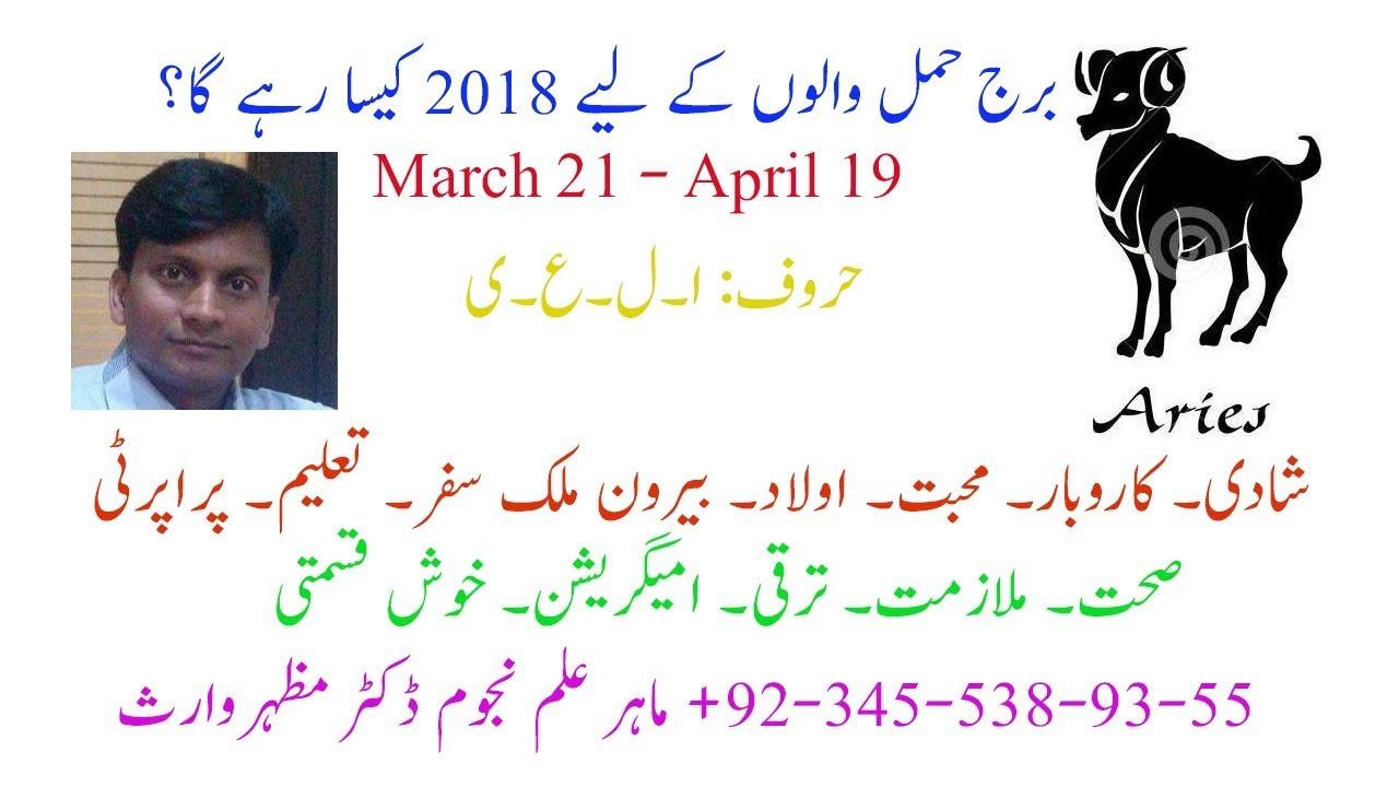Aries Horoscope Aries Yearly Horoscope For 2018 In Urdu Youtube