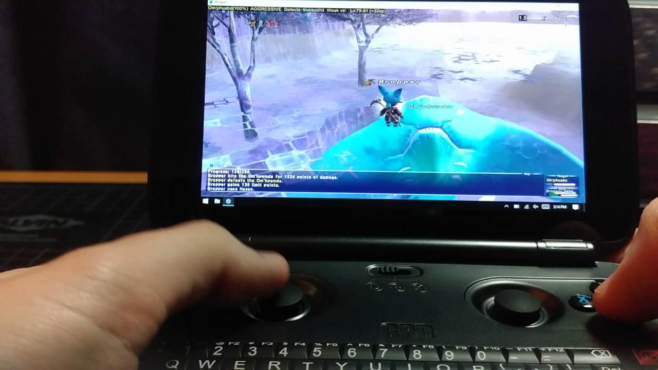 FFXI On GPD Win w/ DGVoodoo2 2.54 WIP35 - YouTube