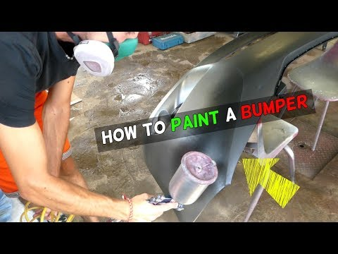 HOW TO PAINT BUMPER and FIX ORANGE PEEL