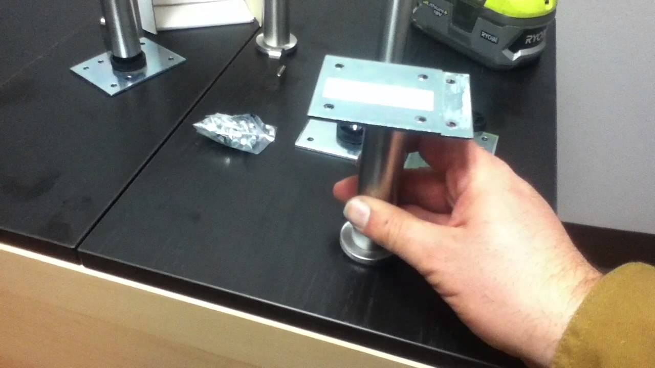 ikea capita furniture leg installation tutorial - youtube