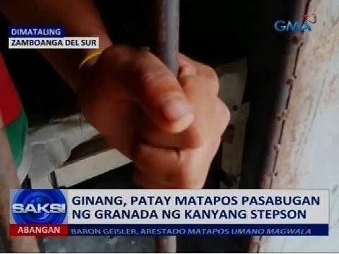 Ginang, patay matapos pasabugan ng granada ng kanyang stepson