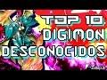 TOP 10 Digimon Desconocidos