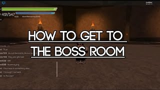 [Roblox Sword Burst 2] How to get to the Boss Room on Floor 2!