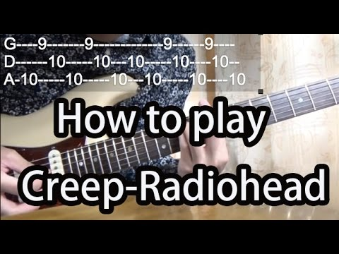 How to play Creep-Radiohead-Guitar Tutorial with tabs
