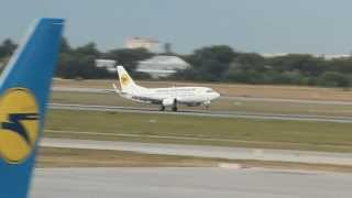 Ukraine International 737-500 Landing at Kiev Boryspil Airport (KBP) - Аэропорт Киев Борисполь