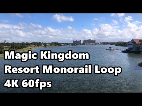 Magic Kingdom Resort Monorail | Complete Loop in 4K 60fps | Walt Disney World