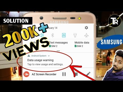Remove Data Usage Warning From Samsung In Hindi