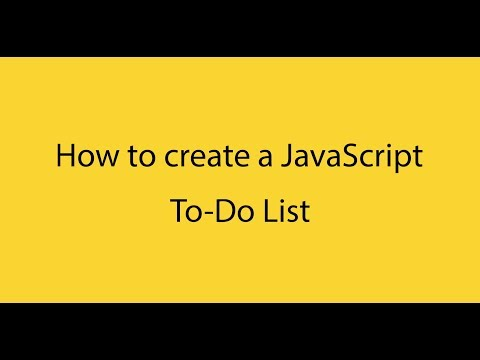 How to create a To-Do List with Pure JavaScript, HTML and CSS thumbnail