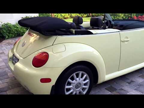 SOLD - 2005 Volkswagen New Beetle Convertible for sale by Auto Europa Naples
