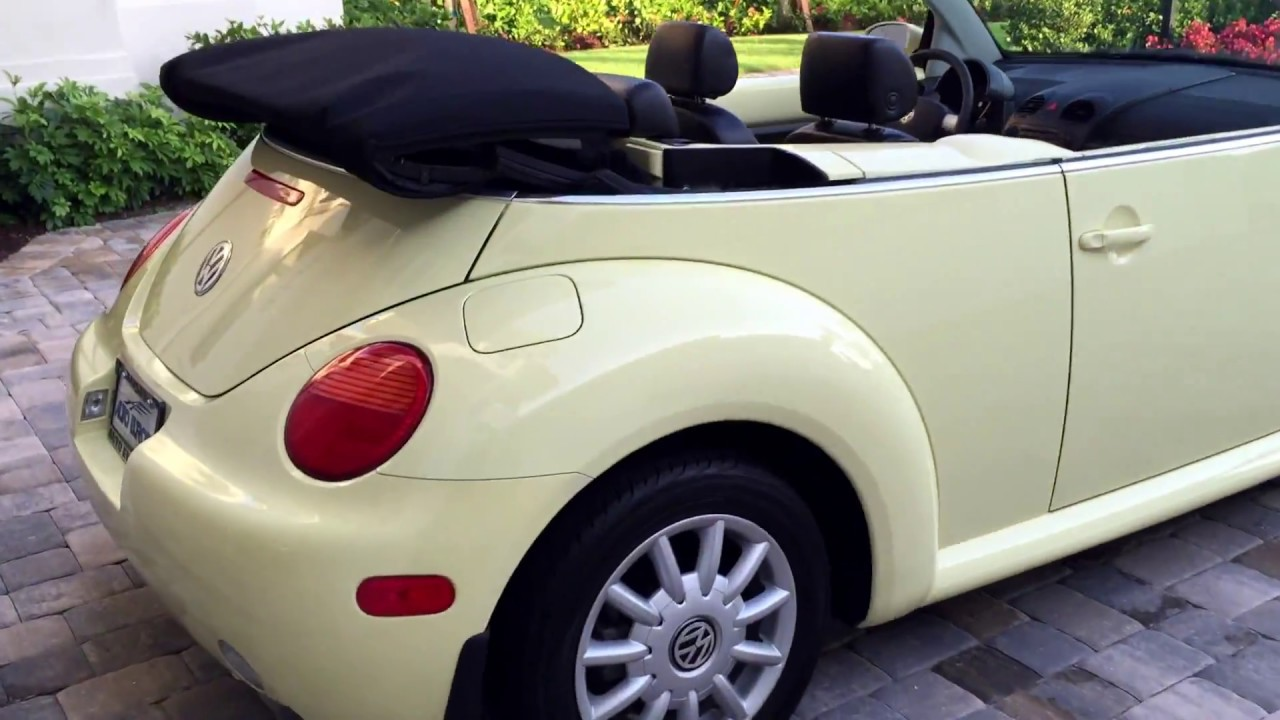 sold  volkswagen  beetle convertible  sale  auto europa naples youtube