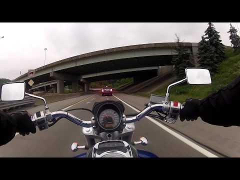 6/3/2013 - Suzuki M50 commute to work with GoPro Chesty